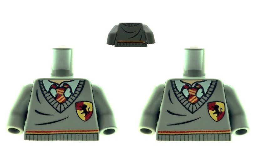 2 X Harry Potter Torsos with Griffindor Stripe and Shield Design