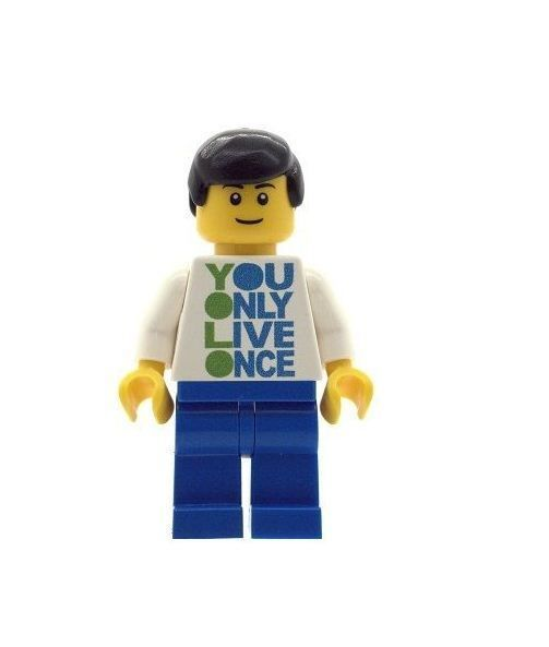 Boy YOLO You Only Live Once - Custom Designed Minifigure