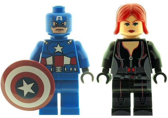 Captain America with Shield & Black Widow - Custom Designed Minifigure