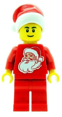 Christmas Boy with Santa Torso & Hat - Custom Designed Minifigure