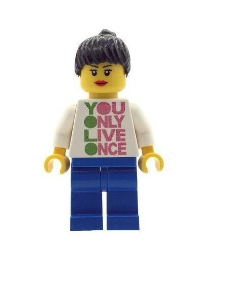 Girl YOLO You only live once - Custom Designed Minifigure