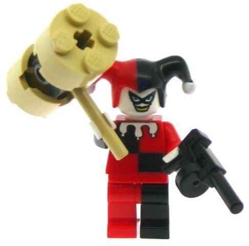 Harley Quinn with Weapons - Custom Designed Minifigure