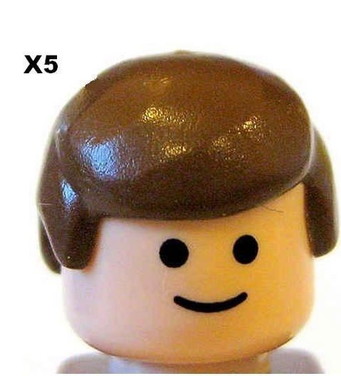 LEGO® 5 Pieces Male Hair Brown  for Minifigs NEW