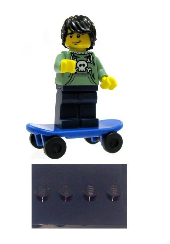 LEGO Series 1 Skater Boy Skateborder Removed from Packet