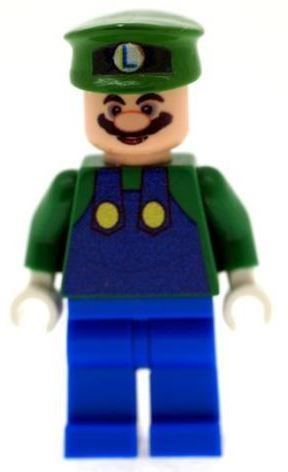 Luigi - Super Mario's Brothers (Mario's Brother) - Custom Designed Minifigure