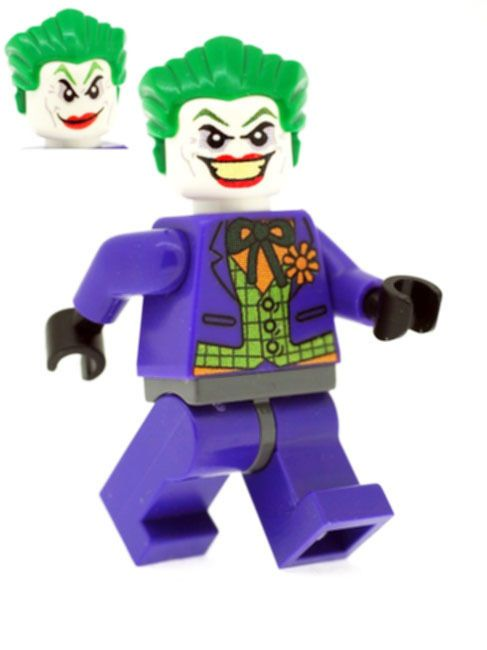 Purple Joker with Dual Faced Head - Custom Designed Minifigure