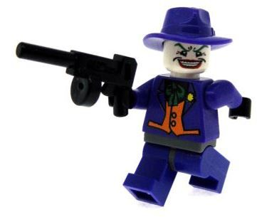 Purple Joker with Purple Hat - Custom Designed Minifigure