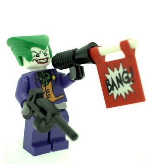 Purple Joker with Weapons - Custom Designed Minifigure