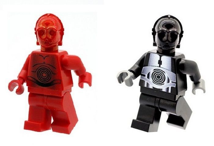 Custom Designed Minifigure Red Protocol Droid Star Wars Printed On LEGO Parts